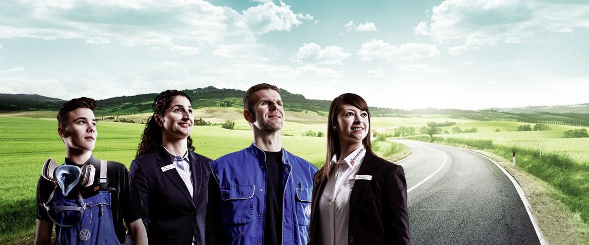 Aufgabengebiete bei Motor-Nützel: Verkauf, Service, Backoffice