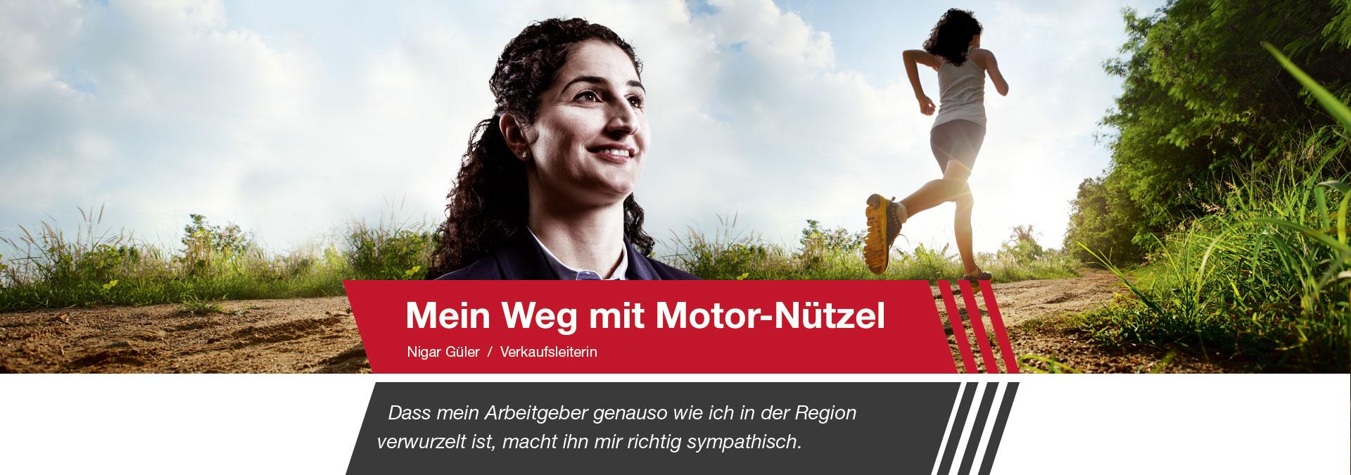 Nigar Güler ist Verkaufsleiterin bei Motor-Nützel
