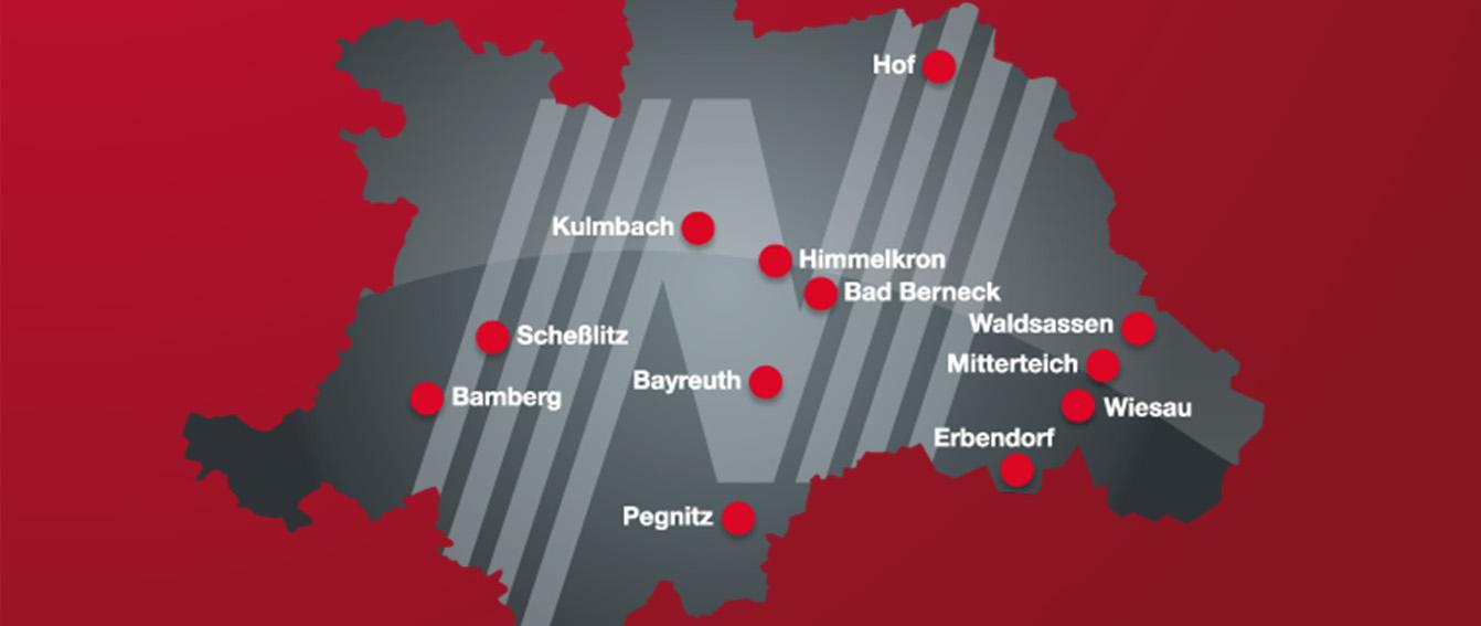 Die Standorte von Motor-Nützel im Überblick